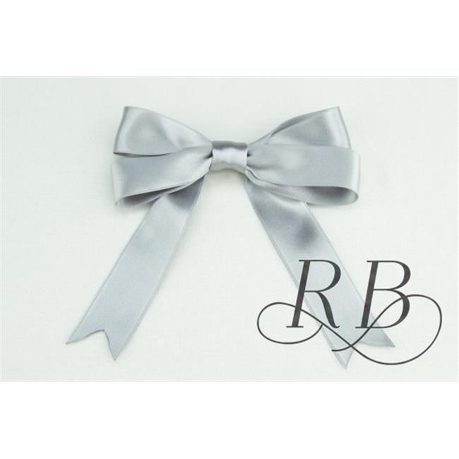 Ribbon Bazaar 8024 1 in. Luxious Satin Ribbon, Silver - By The Yard