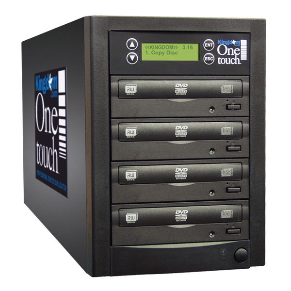 Kingdom One Touch 3 Copy DVD CD Duplicator with 320 GB Hard Drive