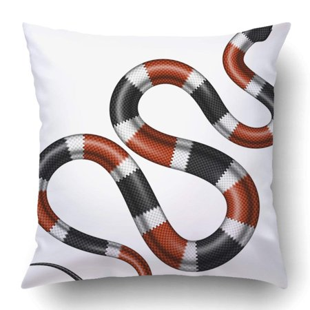 BOSDECO Coral Snake Illustration Isolated Tropical Serpent Pillowcase Pillow Cushion Cover 20x20 inch - image 1 de 1