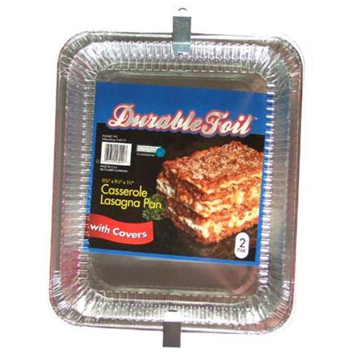 DURABLE FOIL Casserole Lasagna Foil Pan Sold in packs of 12