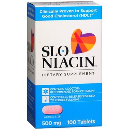 Slo Niacin 500 Mg Tablets 100 Tablets  Pack Of 3