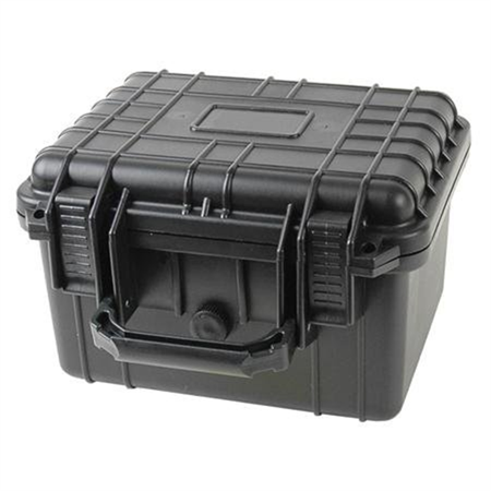 10inch Black Tactical Weatherproof Equipment Case - Deep
