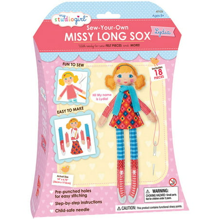 My Studio Girl Sew-Your-Own Missy Long Sox, Lydia (Curly)