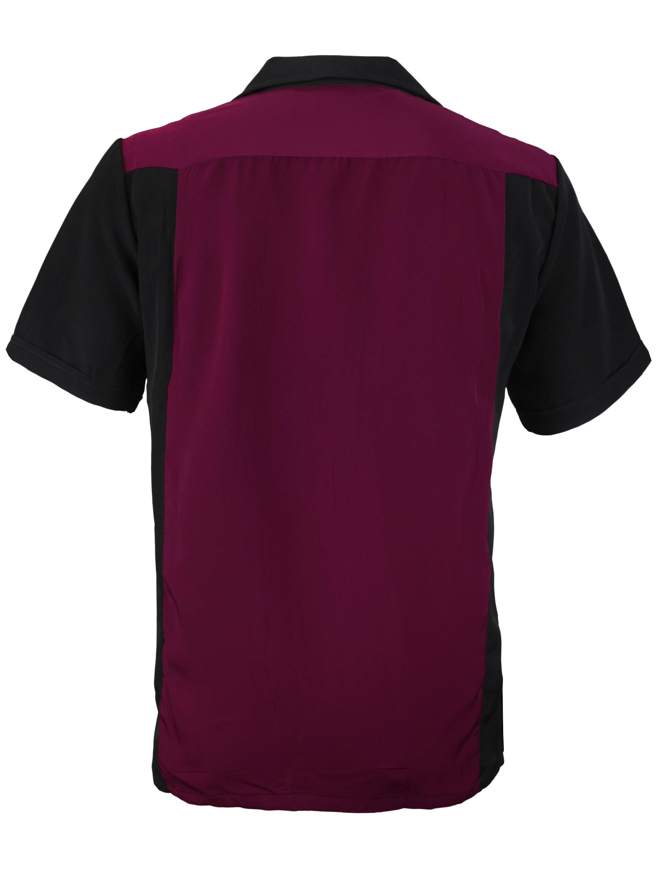 Men S Retro Charlie Sheen Two Tone Guayabera Bowling Shirt Walmart Com Walmart Com