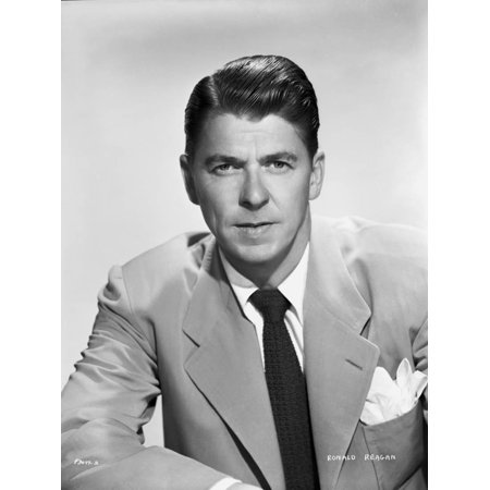 Ronald Reagan Posed in Suit and Tie Print Wall Art By Bud Fraker - Pope Suit
