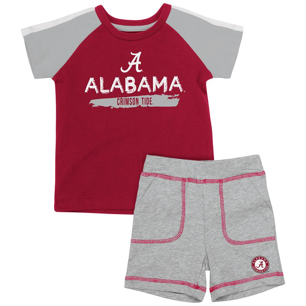 Infant Alabama Crimson Tide Tee Shirt and Shorts Set 3 to 6 Months by Colosseum