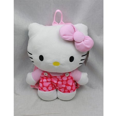 Plush Backpack - Hello Kitty - Pink Heart Gifts Toys New Soft Doll Toys 68388 - Hello Kitty Backpack With Bow
