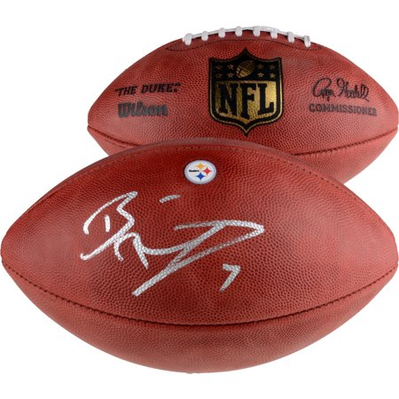 Ben Roethlisberger Pittsburgh Steelers Autographed Duke Decal Football - Fanatics Authentic -