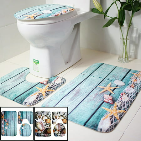 Name: Set 3 Pcs Toilet MatsSize:Square pad 44 * 75cmU-type pad 44 * 39cmToilet cover 38 * 40cmMaterial: Flannel + sponge + PVC non-slip endWeight: about 400gApply to: bathroom, toiletFeatures: - image 4 of 4