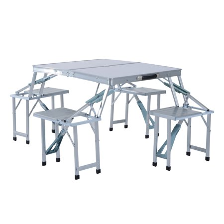 Outsunny height adjustable folding outdoor picnic table w 4 seats outsunny height adjustable folding outdoor picnic table w 4 seats natural wood and silver watchthetrailerfo