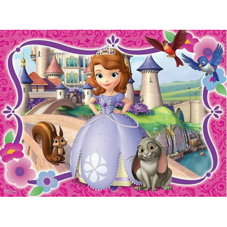 Sofia the First Castle  Cake Topper Edible Frosting Image 1/4 Sheet Castle Birthday Cake