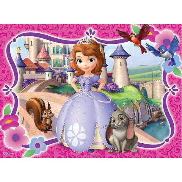 Astounding Sofia The First Castle Cake Topper Edible Frosting Image 1 4 Sheet Personalised Birthday Cards Cominlily Jamesorg
