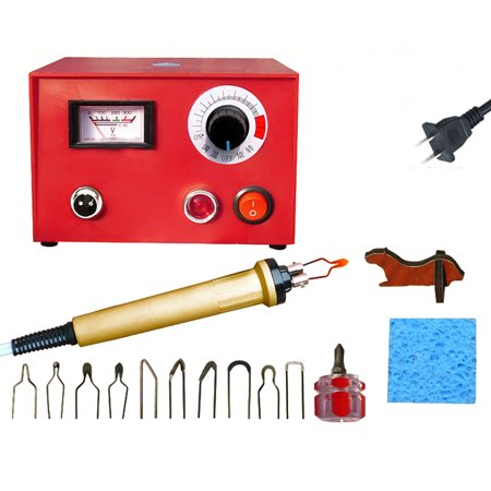Adjustable Temperature Wood Burning Machine Set 25W Pyrography Pen Machine Kit Handle Wood Crafts Burning Tools Electric Soldering Iron - image 7 de 7