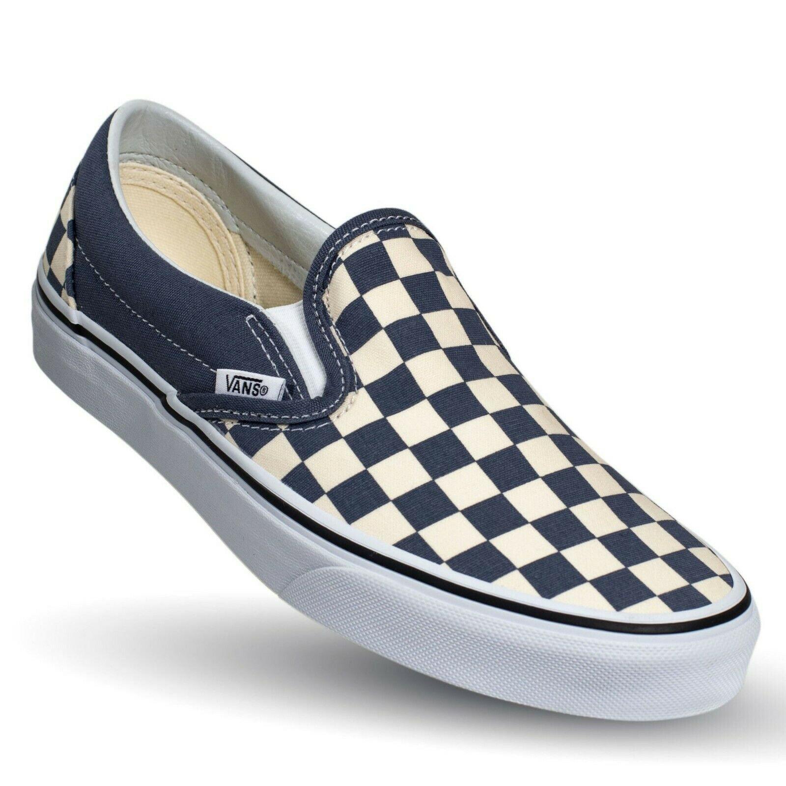 Vans - Vans Classic Slip On Checkerboard Grisaille Men's Classic Skate Shoes Size 10 - Walmart.com