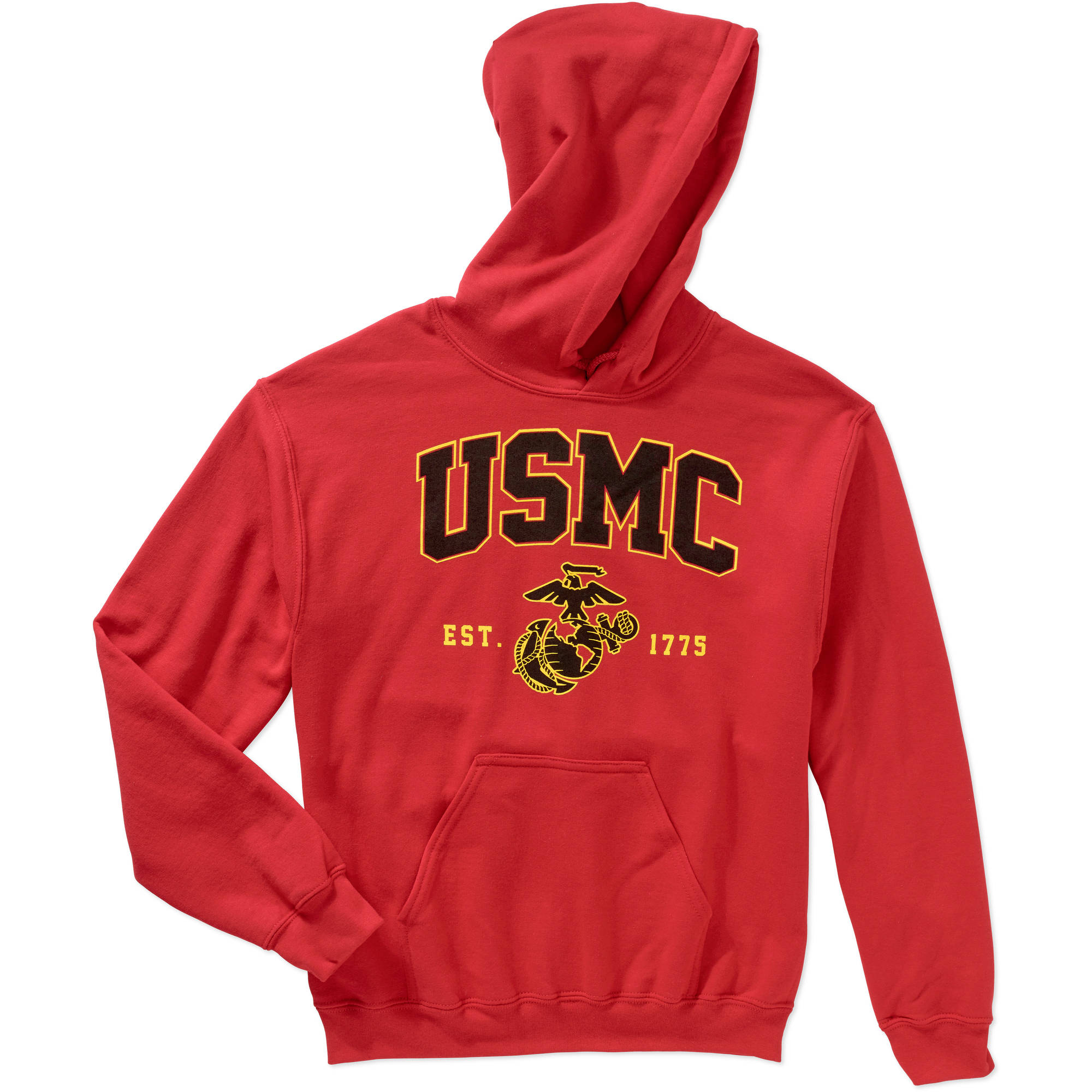 Men's Military Officially Licensed Marine Fleece Traditional Hoodie