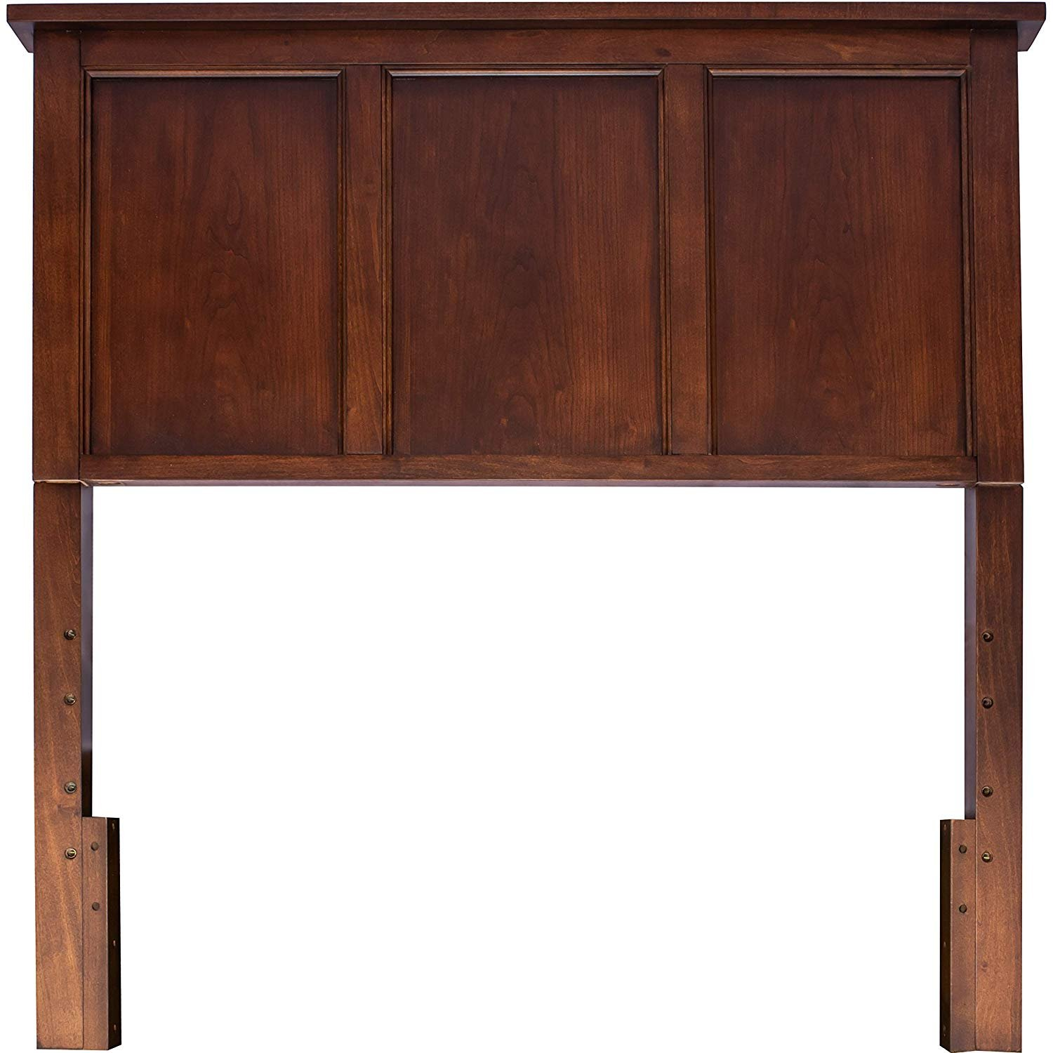 Timeless Espresso Wooden Twin Headboard and Mounting Hardware. Classic Panel Design Great for