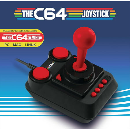 Retro Games LTD, THEC64 Mini Joystick, Black, RGL002