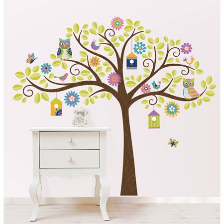 wall pops owl tree wall decal kit