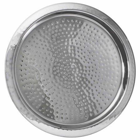 Barcraft Hammered Stainless Steel Tray, Dishwasher Safe Dishwasher Safe Oval Serving Tray