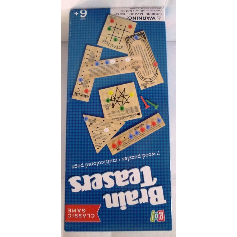 Wooden Teasers Set, Classic Games by Go Games