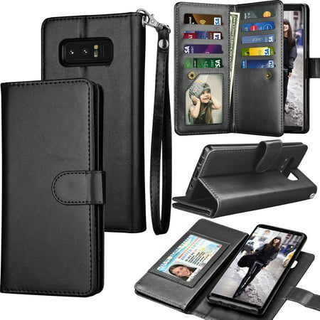 Galaxy Note 8 Case, Note 8 Wallet Case, Samsung Galaxy Note 8 PU Leather  Case, Tekcoo Luxury Cash Credit Card Slots Holder Carrying Flip Cover