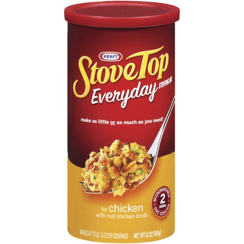 Kraft Stove Top Everyday Chicken Stuffing Mix for Chicken, 12 oz
