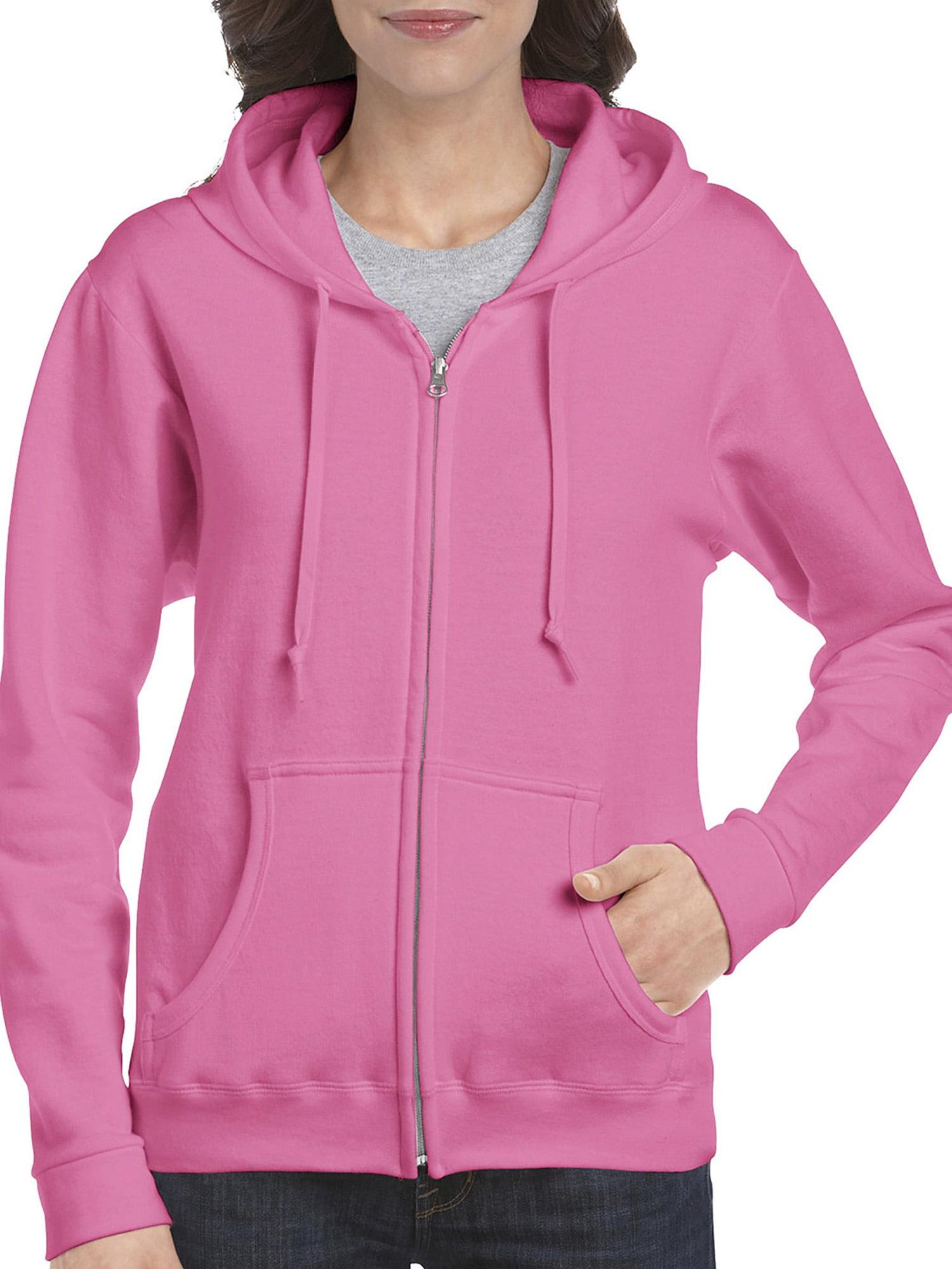 f9f96125 Gildan - Gildan Women's Full Zip Fleece Hoodie - Walmart.com