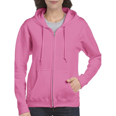 Gildan Women's Full Zip Fleece Hoodie