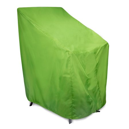"""Portofino Stackable Chairs Cover By Eevelle   23.5""""W x 33.5""""D x 45""""H   Green"""