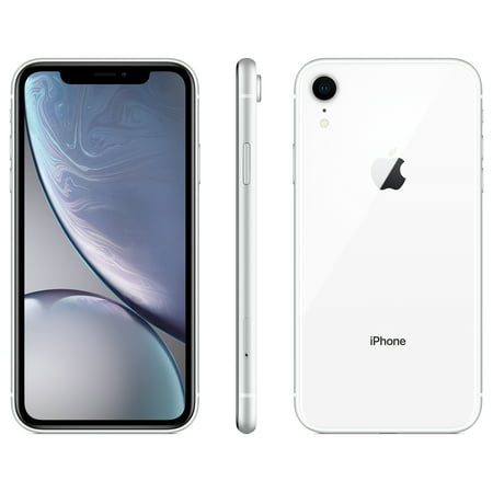 Walmart Family Mobile Apple iPhone XR w/64GB, White (Iphone 3 Unlocked White)
