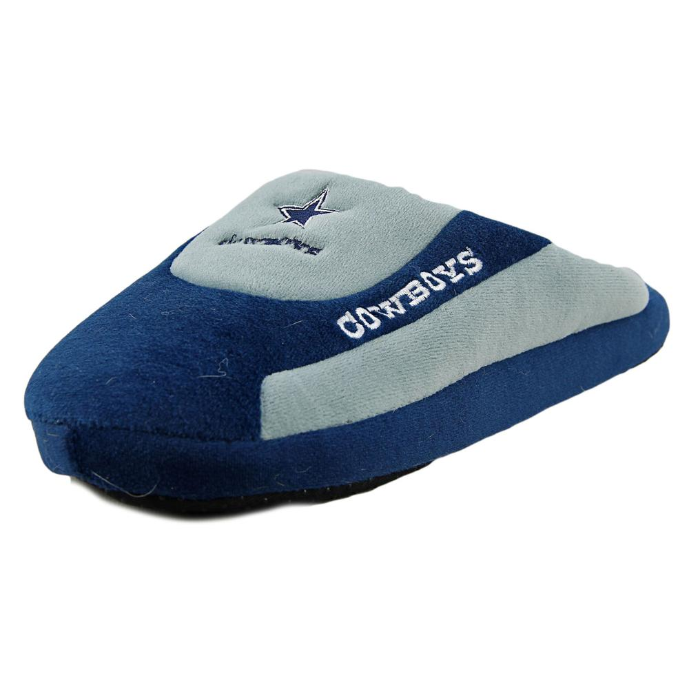 Forever Collectibles Cowboys Men Round Toe Canvas Blue Slipper by Forever Collectibles