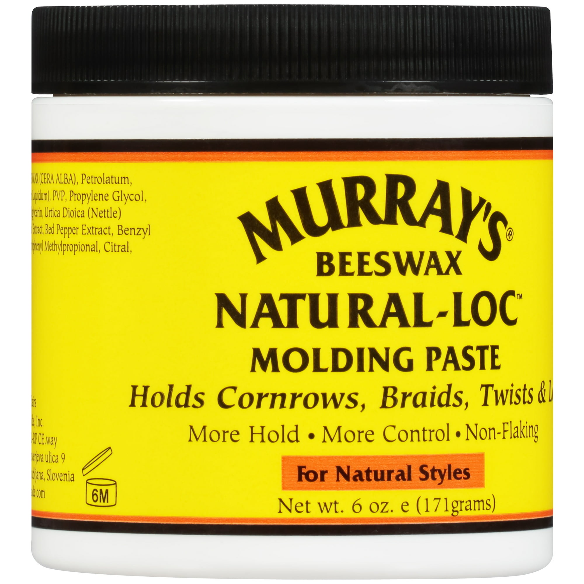 Murray S Beeswax Natural Lock For Natural Styles Molding Paste 6 Oz Jar Walmart Com Walmart Com