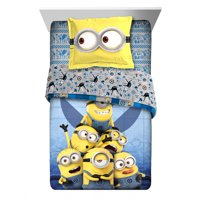 Despicable Me Minions 2Pc Comforter and Sham Set, Kids Bedding, Reversible, Blue, TWIN/FULL