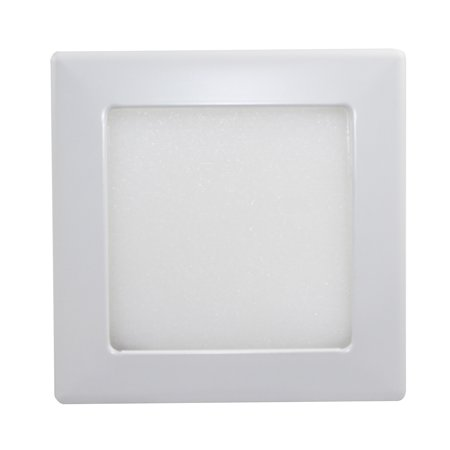 Capri Lighting S12p 8 Recessed Incandescent And Shallow Square Albalite Trim White