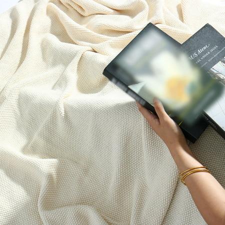 """knit blanket beige twin size 60"""" x 78"""" - image 4 of 8"""