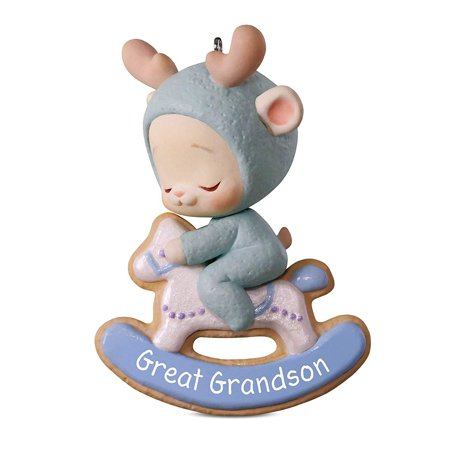 Hallmark Keepsake 2018 Great Grandson Bunny Ornament - Bunny Ornaments