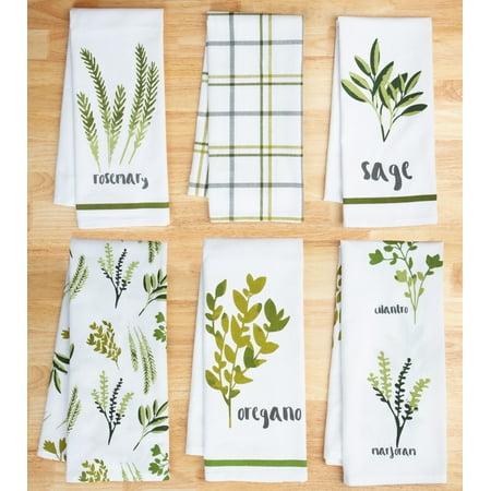 Mainstays Botanical Herb 6 Piece Kitchen Towel