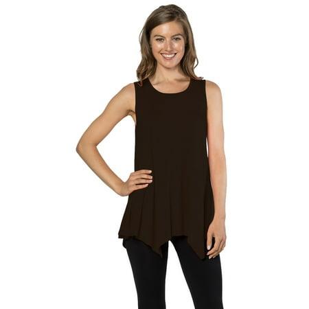 Black Sleeveless Sweater Top (Womens Tunic Tank Top T-Shirt - Loose Basic Sleeveless Tee Shirt Blouse, (Black-M) )