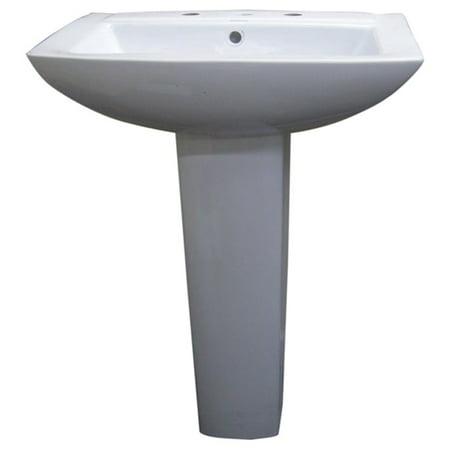 Fine Fixtures Modern Square White 8 Inch Spread Ceramic