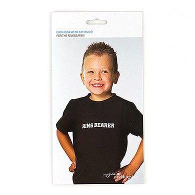 Ring Bearer Wedding Transfer T-Shirt Iron On](Ring Bearer Badge)