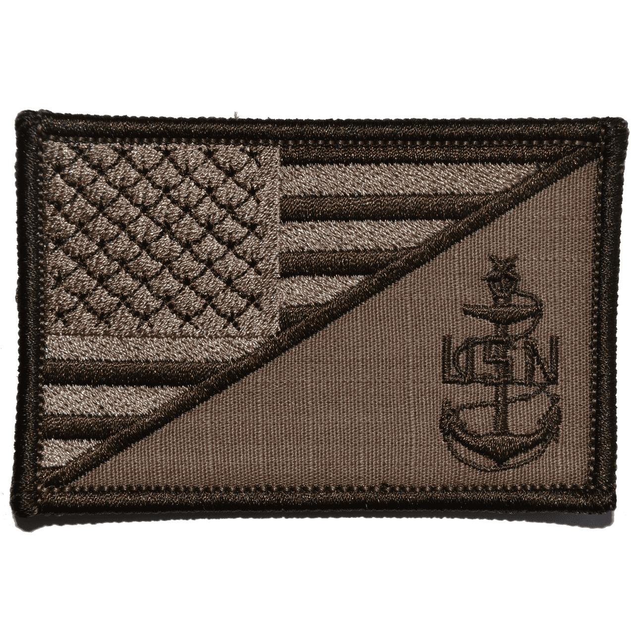 Navy SCPO Senior Chief Petty Officer USA Flag - 2.25x3.5 Patch