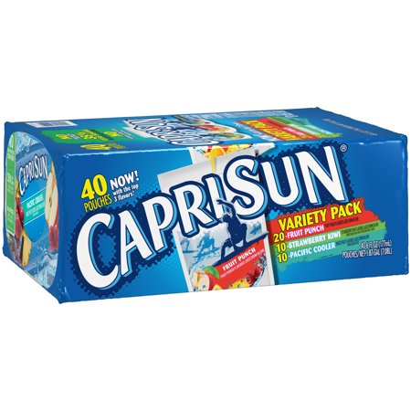 Juice Drinks - Capri Sun Fruit Flavored Juice Drink Blend Variety Pack, 40 ct - 6 fl oz Pouches