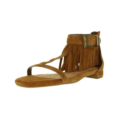 (Aerosoles Women's Lowdown Suede Dark Tan Ankle-High Leather Sandal - 7.5M)
