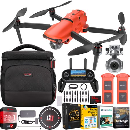 Autel Robotics EVO 2 Drone Folding Quadcopter On The Go Bundle with 8K HDR Video and 48MP Camera EVO II with OLED Remote Control + 2 x Batteries + Shoulder Bag + Deco Gear Landing Pad + Software Kit
