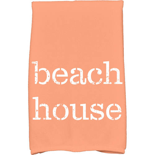 """Simply Daisy 16"""" x 25"""" Beach House Word Print Kitchen Towel by E By Design"""
