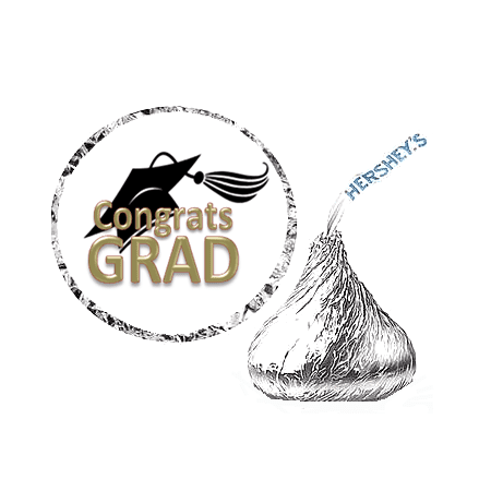 216 Graduation Party Favor Hershey's Kisses Stickers / Labels - - Graduation Favor Ideas