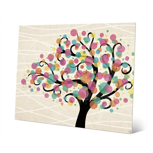 Click Wall Art 'Bubble Tree Gamma' Graphic Art on Metal