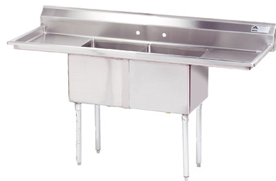 Advance Tabco 68 Fabricated Two Compartment Sink () Fe-2-1620-18Rl by Advance Tabco