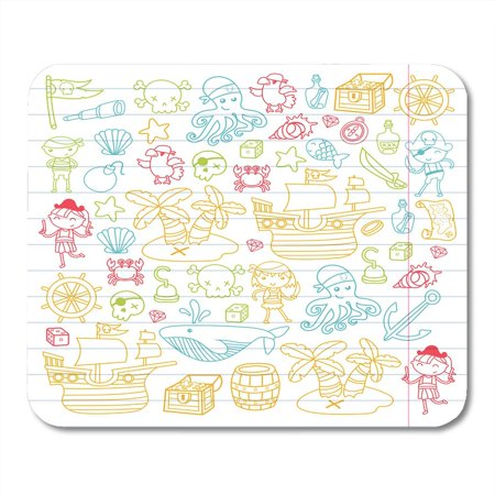 SIDONKU Children Playing Pirates Boys and Girls Kindergarten School Preschool Halloween Party Treasure Island Mousepad Mouse Pad Mouse Mat 9x10 inch - Kindergarten Halloween Party Snacks