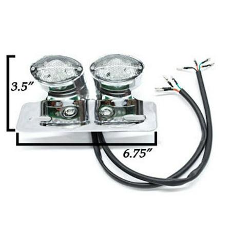 Custom LED License Plate Taillight Turn Signals For Kawasaki Vulcan Classic Nomad MeanStreak Drifter - image 2 de 5